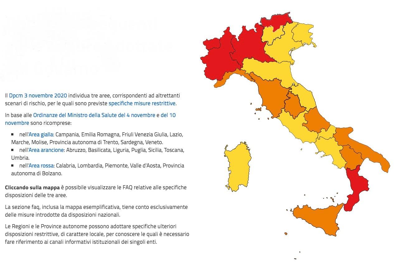 Cartina Emilia Romagna E Lombardia.Mappa Aggiornata Zona Rossa Arancione E Gialla Nuove Regole Per Veneto Friuli Ed Emilia Romagna