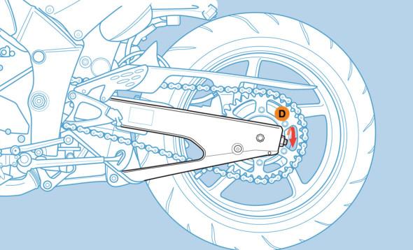 fai da te, come controllare e registrare la catena della moto
