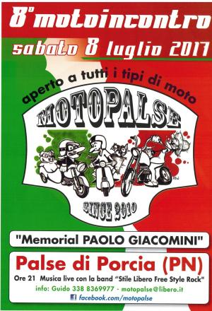 """8° Motoincontro Motopalse """"Memorial Paolo Giacomini"""""""