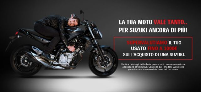 moto e scooter - supervalutazione dell'usato di 1000 euro