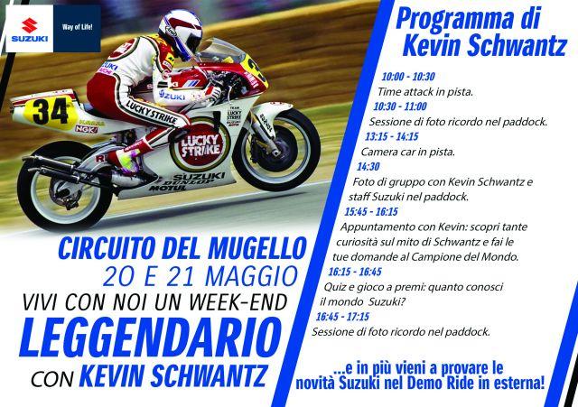 Suzuki DemoRide Tour 2017, tappe in Veneto e al Mugello con Schwantz