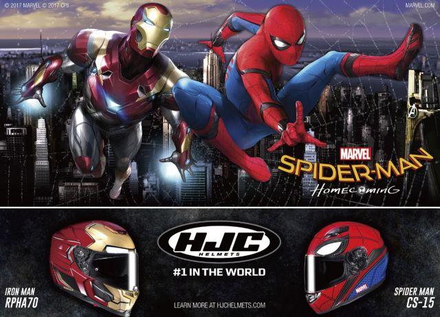 HJC, nuovi caschi per Spiderman Homecoming