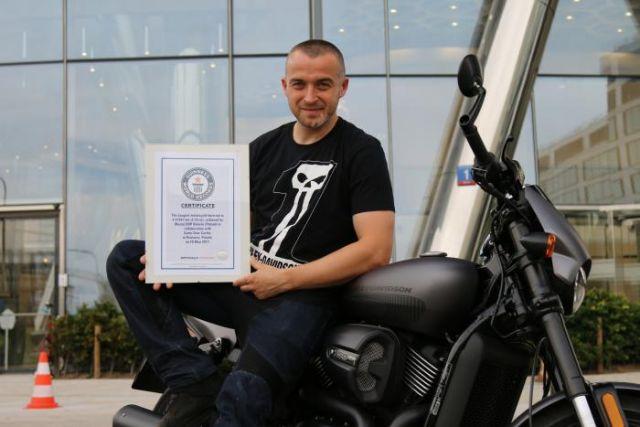 Harley-Davidson: nuovo record del mondo di burnout