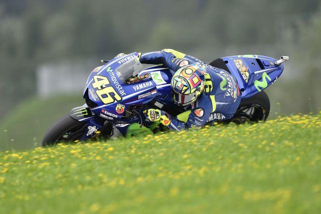 """Valentino Rossi: """"Problema con la gomma posteriore"""""""