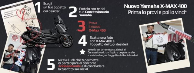 "Yamaha regala un nuovo X-Max 400 con ""Ride and Smile"""