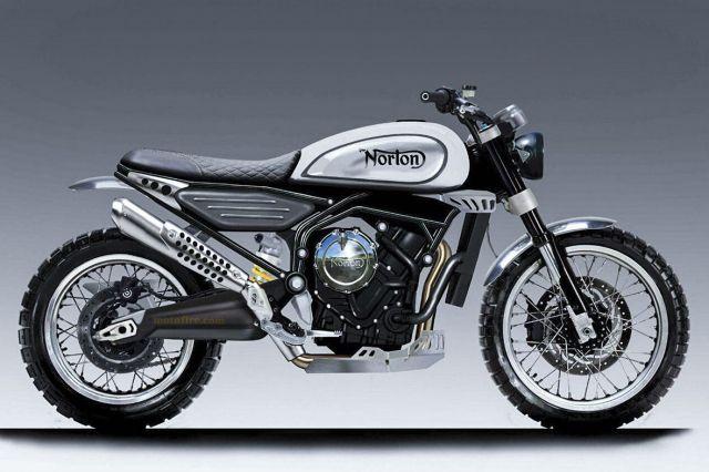 Norton in arrivo una scrambler bicilindrica for Www nuovo modello di casa