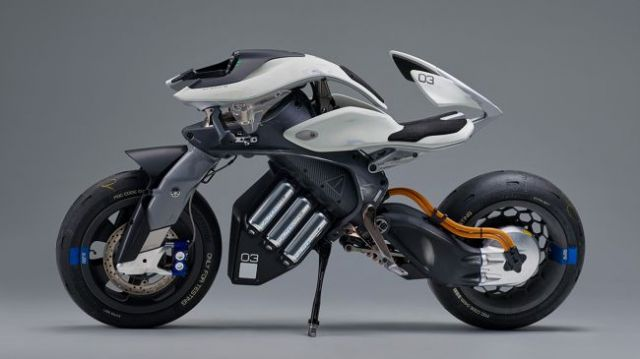 Elicottero Yamaha : Ces las vegas le moto robot di yamaha