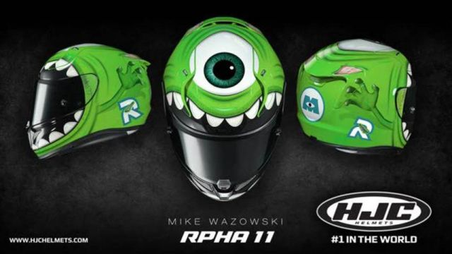 HJC RPHA 11: casco da spavento con Monster & Co