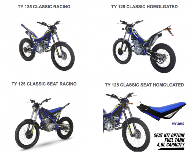 Sherco, nuovo kit per TY 125 Classic