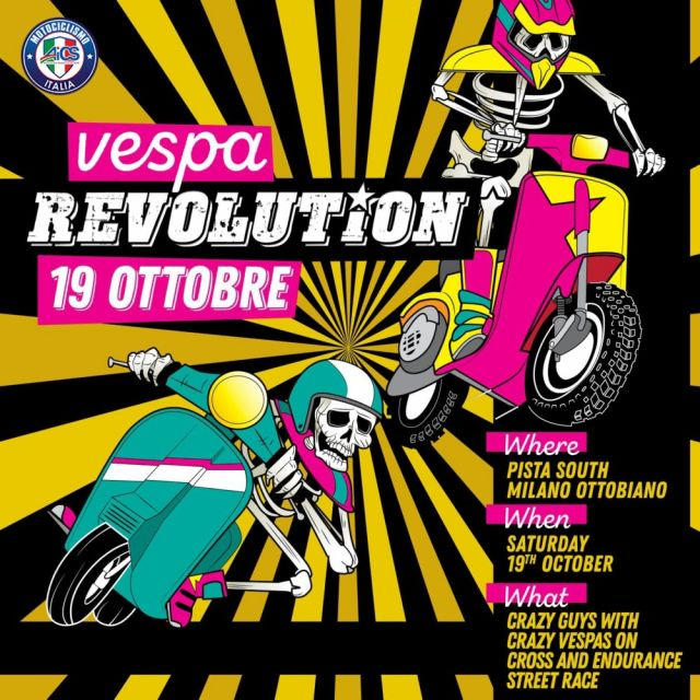 Vespa Revolution, off road ed endurance a Ottobiano