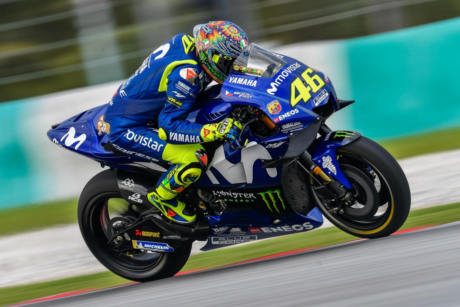 """Foto MotoGP 2018, Valentino Rossi: """"In difficoltà per mancanza di aderenza"""""""